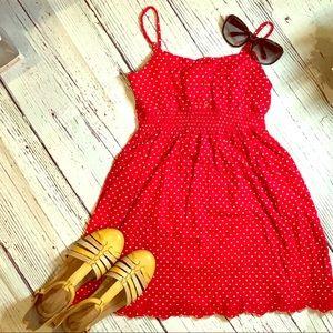 Forever 21 Red Polka Dot Dress size S